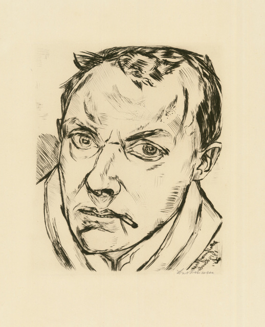 , 'GROSSES SELBSTBILDNIS,' 1919, Jörg Maass Kunsthandel