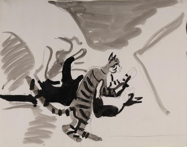 , 'Zwei spielende Katzen (Boby udn Flecky),' ca. 1937, Henze & Ketterer