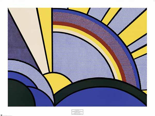 Roy Lichtenstein, 'Modern Painting of Sun Rays (poster)', 1972, Gallery TAGBOAT