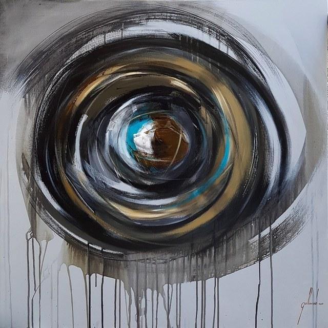 Pedro Gallardo, 'Thinking in Circles I ', 2019, Painting, Mixed Media, Saphira & Ventura Gallery
