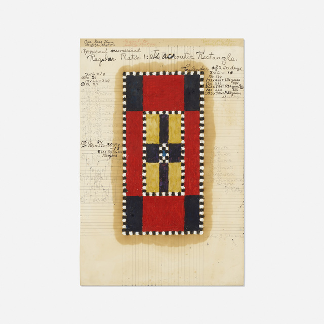 Alfred Jensen, 'Acroatic Rectangle (Diagram)', Ink and oil on paper, Rago/Wright