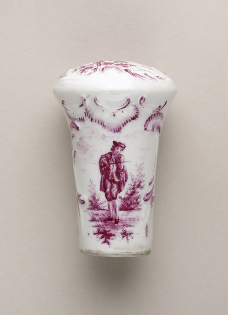 Meissen Porcelain Factory, 'Cane handle', 1737-1741, Design/Decorative Art, Porcelain, enamel, gilding, Cooper Hewitt, Smithsonian Design Museum