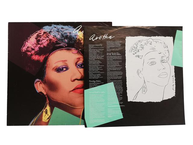 "Andy Warhol, 'Aretha Franklin / ""Aretha""', 1986, Print, Offset print on vinyl sleeve, NextStreet Gallery"