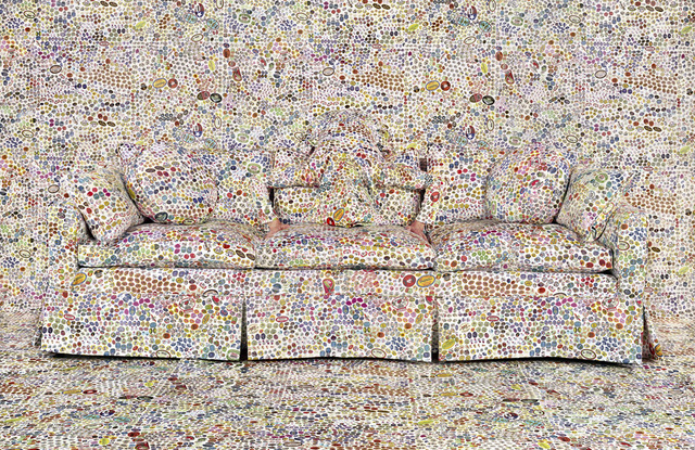 Rachel Perry, 'Lost in My Life (Fruit Stickers Behind Sofa)', 2019, Yancey Richardson Gallery