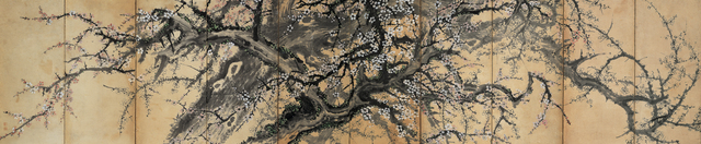 , '홍백매도 (Blossoming Red and White Plum Trees) ,' 19th Century, National Museum of Korea