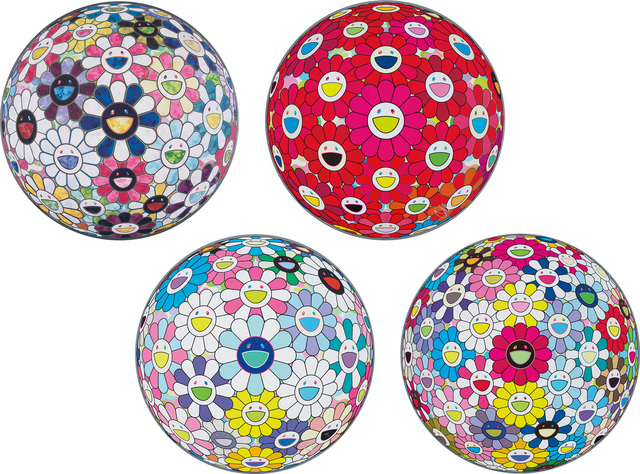 Takashi Murakami, 'Right There, The Breadth of The Human Heart; Thinking Matter (Red); Cosmic Power; and Space Show', 2013-2016, Phillips
