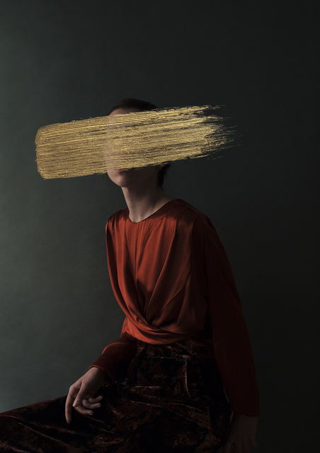Andrea Torres Balaguer, 'Persimmon', 2018, Mixed Media, Hahnemuhle Photo Rag Baryta paper and Acrylic Painting, Alzueta Gallery