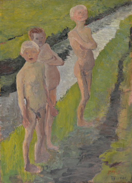 , 'Three Bathing Boys by The Canal,' 1901, Galerie St. Etienne