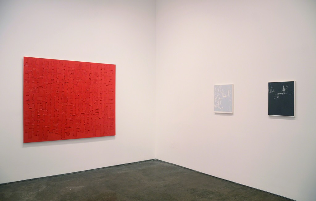 Installation view of Brant / Brennan / Zinsser (left to right: John Zinsser, Michael Brennan)