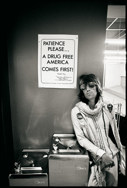 "Ethan Russell, 'Keith Richards ""Patience Please a Drug Free America Comes First"", 1972', 1972, TASCHEN"
