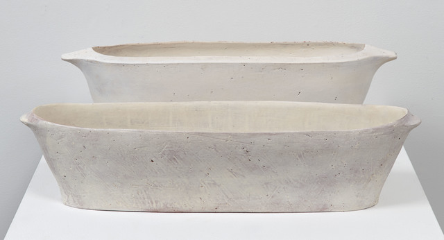 , 'Oval Trough and Oval Trough with Rim,' 2016, Jane Hartsook Gallery