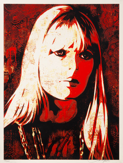 Shepard Fairey (OBEY), 'Nico', 2010, Julien's Auctions