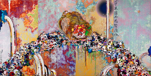 Takashi Murakami, 'Of Chinese Lions, Peonies, Skull and Fountains', 2012, Dope! Gallery