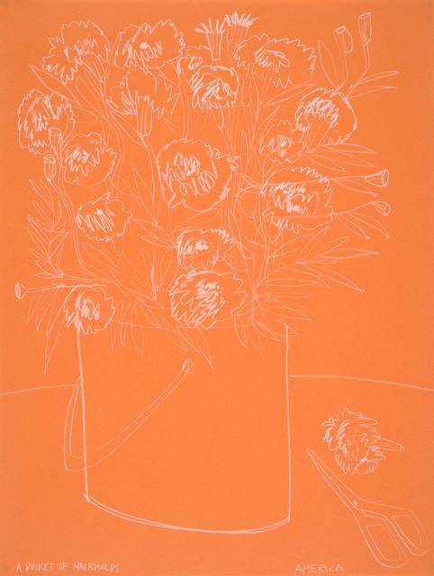 , 'Roses on Orange Paper,' 2018, JoAnne Artman Gallery