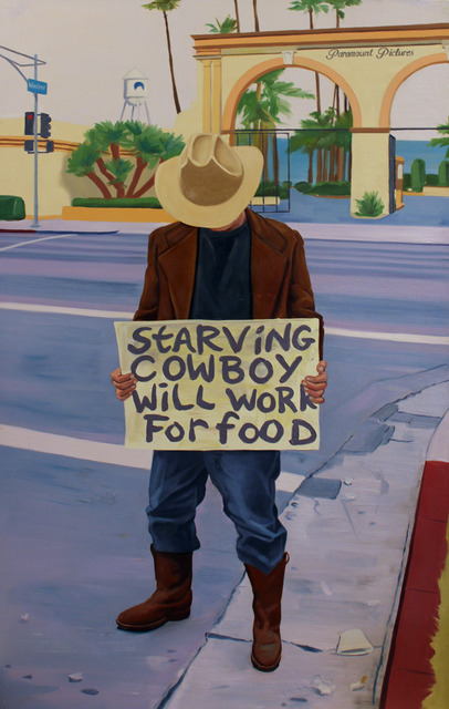 , 'Starving Cowboy Will Work for Food,' 2001, Robert Berman Gallery