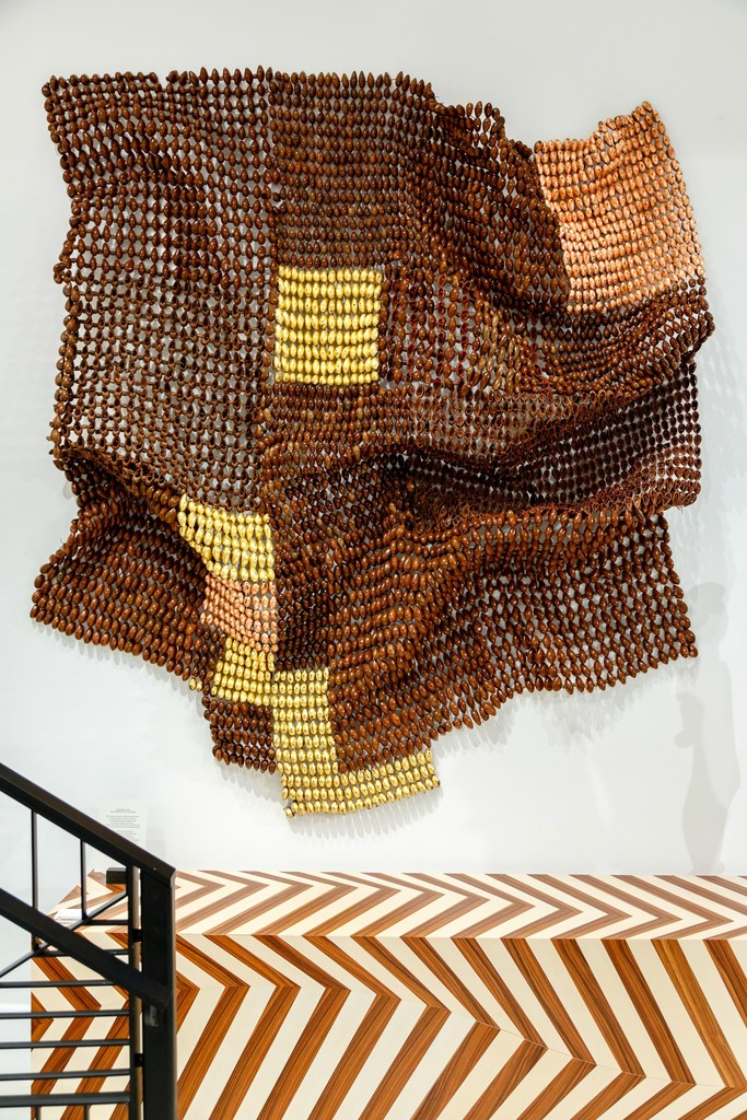 Installation shot: work from Niyi Olagunju's Ekpiri Series