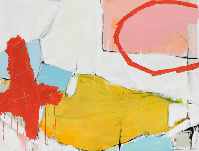 Kelton Osborn, 'Red Cross with Broken Circle', 2019, Michael Warren Contemporary