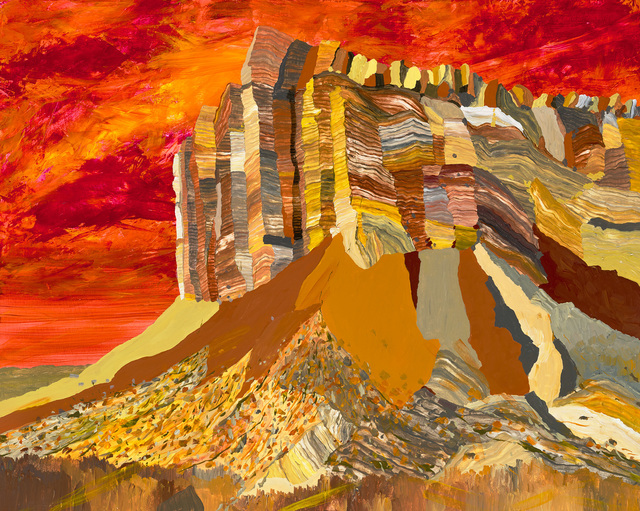 , 'Cliffs Near Capitol Gorge,' 2016, LAUNCH LA