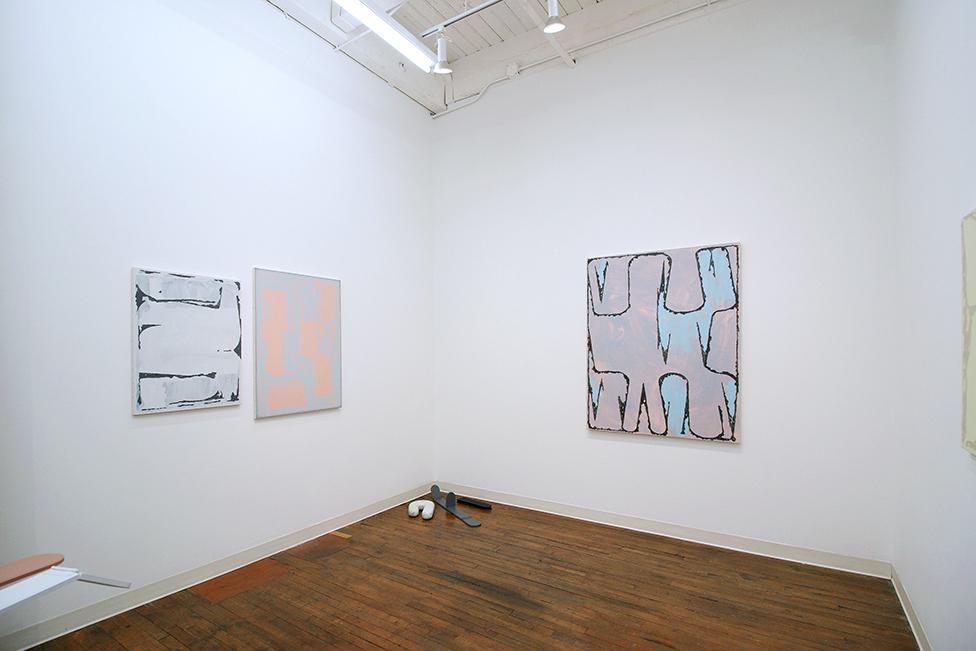 Installation view, Paul Erschen, Cloven, February 19 - March 25, 2017