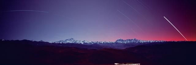 , 'Mt. Everest and Cho Oyu, Tibetan Plateau,' 1991, Anastasia Photo