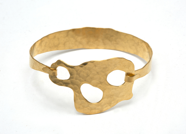 ", 'BRACELET ""Trio"" Gold plated and hand hammered by Jacques Jarrige,' 2015, Valerie Goodman Gallery"