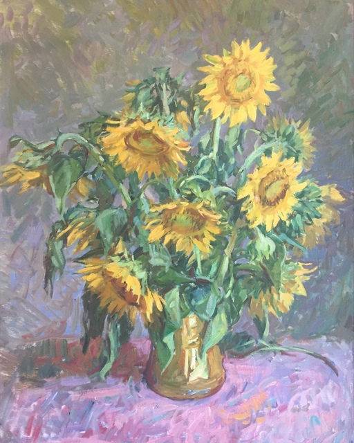 , 'Sunflowers,' 2019, Grenning Gallery