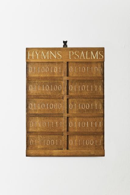 , 'Hymn Board,' 2013, Ludorff