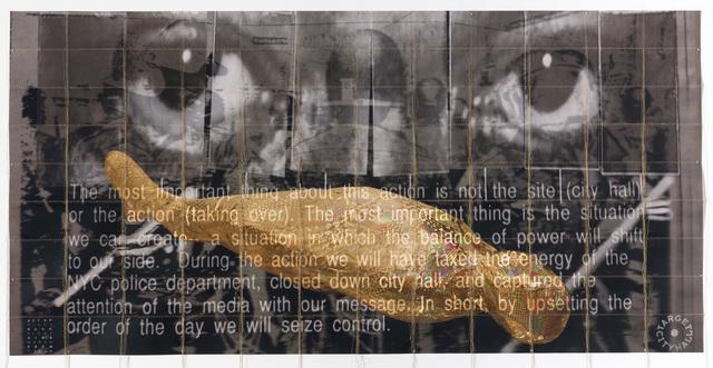 , 'ACT UP City Hall manifesto 1990 - Eric Garner Eyes of Rage protest,' 2014, P.P.O.W