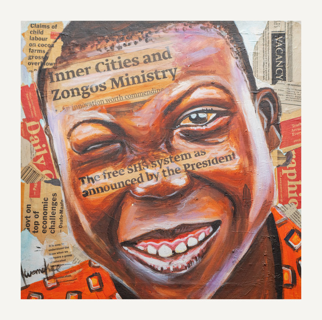 Otis Kwame Kye Quaicoe, 'Zongo Kid', 2017, Painting, Acrylic on canvas, Janet Rady Fine Art