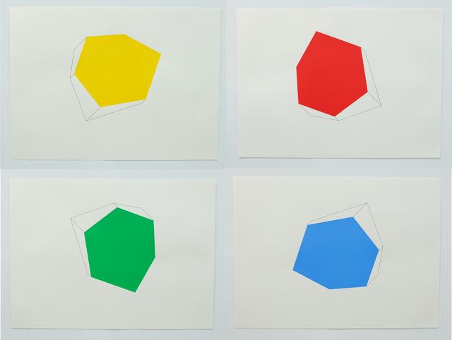 """, 'Portfolio of four prints: """"Blue (AF)"""", """"Red (AF)"""", """"Yellow (AF)"""", and """"Green (AF)"""",' 2016, Scott White Contemporary Art"""