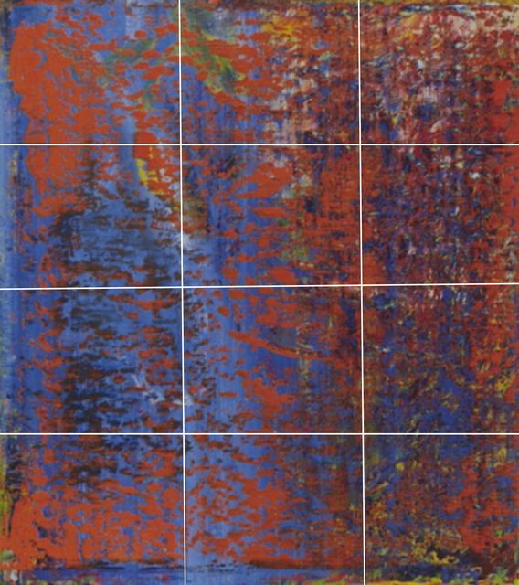 , 'Destroyed Richter Grid No.1 A-L (12),' 2016, Magdalena Sawon