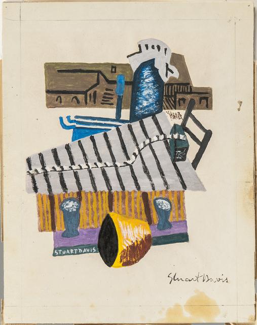 Stuart Davis, 'Marine Scene/Docks, Gloucester, Massachusetts, alternately titled Gloucester Docks Motif #1', c. 1933, Drawing, Collage or other Work on Paper, Gouache and ink on paper mounted to paperboard, Skinner