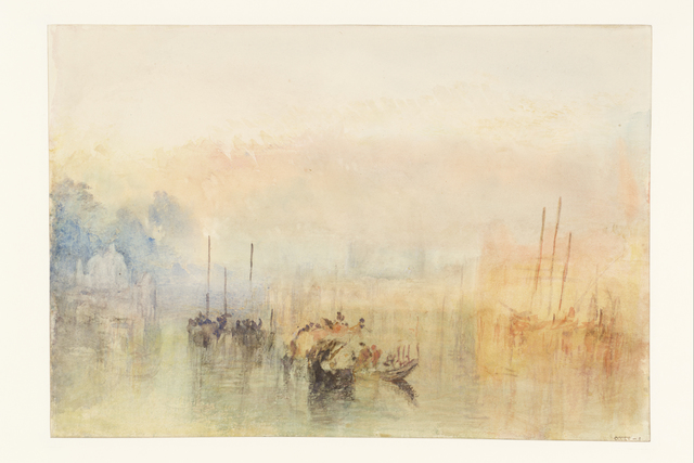 J. M. W. Turner, 'Venice, Shipping in the Bacino, with the Entrance to the Grand Canal', 1840, Turner Contemporary