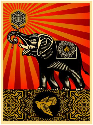 Shepard Fairey (OBEY), 'Peace Elephant', 2011, EHC Fine Art Gallery Auction