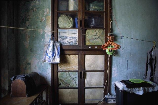 , '21_Still life with panel door,  plastic bags, and coat hangers,' 2011, Art Vietnam Gallery