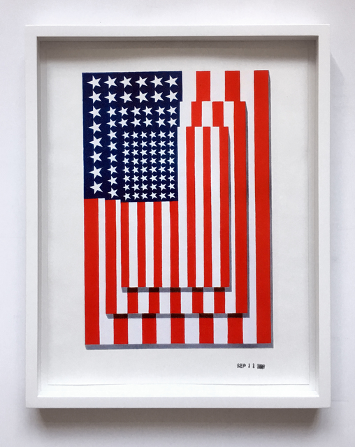 , 'Jasper Johns Three Flags 1958 Vertical,' 2001, Joseph K. Levene Fine Art, Ltd.