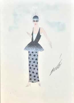 Erté (Romain de Tirtoff), 'Femme de face, étude de costume', Digard Auction