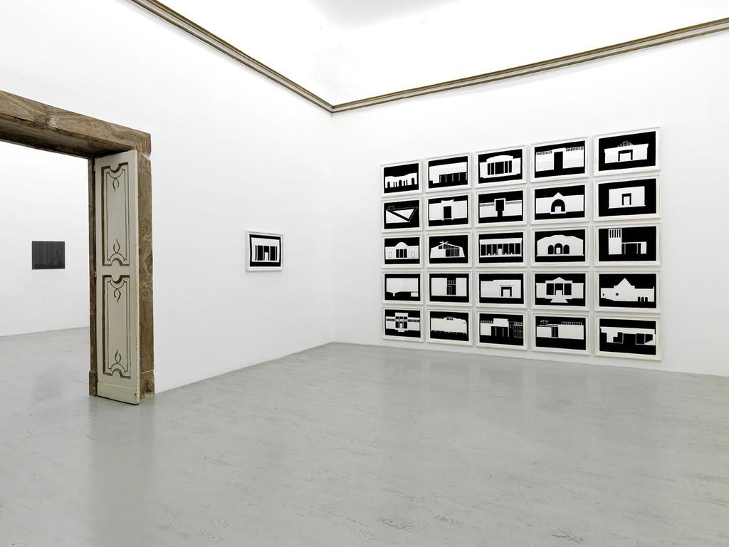 Marco Neri - marcobaleno - partial view of the exhibition - November 2014 - Galleria Alfonso Artiaco, Napoli