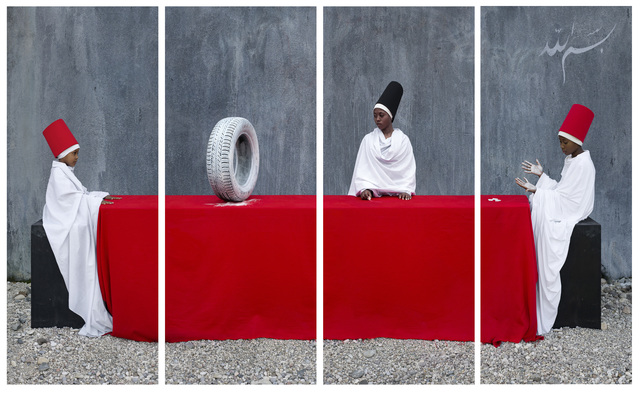 , 'M-Eating, White Rubber Tire - First Lesson,' 2014, Mariane Ibrahim Gallery
