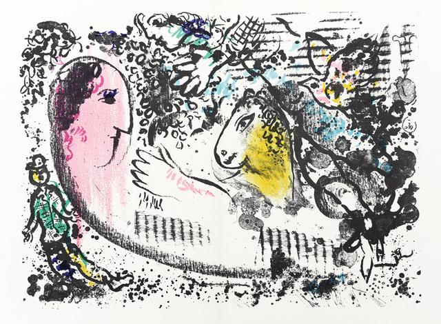 Marc Chagall, 'Reverie', 1969, Print, Color lithograph, Hans den Hollander Prints