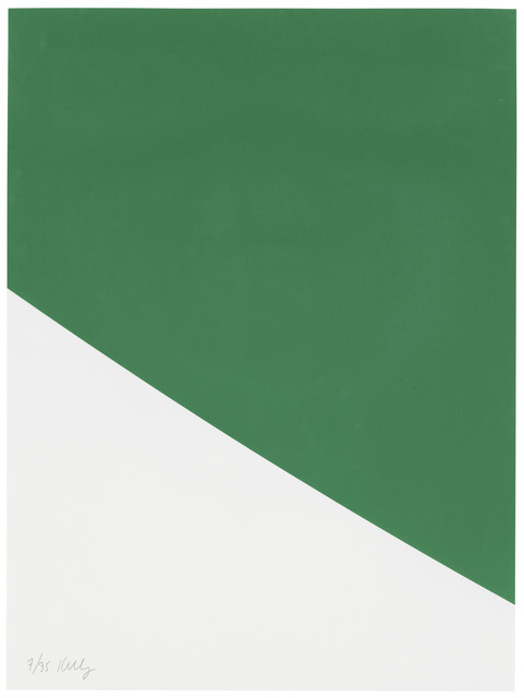 Ellsworth Kelly, 'Green Curve, from Third Curve Series', 1999, Christie's