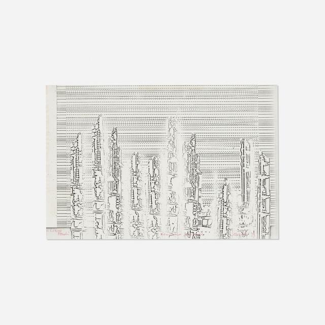 Bruno Munari, 'Xerografia', 1973, Drawing, Collage or other Work on Paper, Xerox-printed ink on paper, Rago/Wright