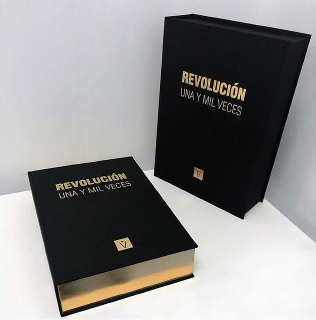 Reynier Leyva Novo, 'A Thousand and One Times Revolution (Golden Edition)', 2017, Sculpture, Object-book (Monument on pages), El Apartamento