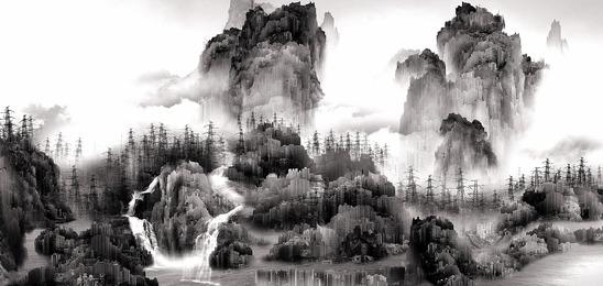 Yang Yongliang 杨泳梁, 'View of Tide 蜃市山水,' 2008, The Metropolitan Museum of Art