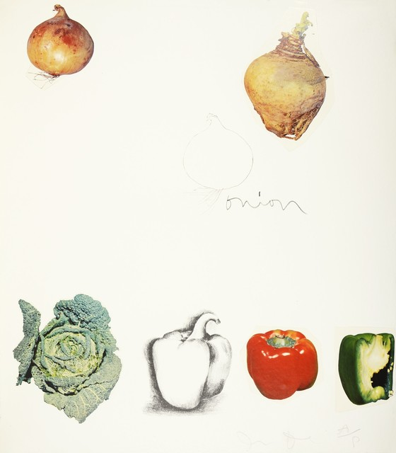 Jim Dine, 'Jim Dine, Vegetables, 1970', 1970, Print, Lithograph with Collage, Shapero Modern