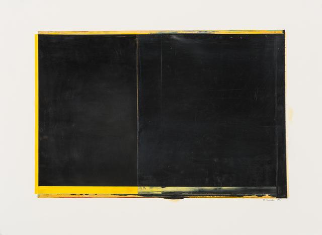 Daniel Brice, 'Untitled (WOP-1)', 2014, Painting, Oil on paper, Bentley Gallery