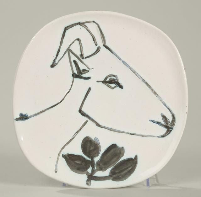 Pablo Picasso, 'Tête de chèvre de profil (A.R. 106)', 1950, Other, Terre de faïence plate, painted and partially glazed, Sotheby's