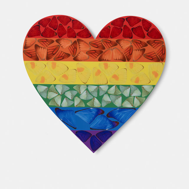 Damien Hirst, 'Butterfly Heart (Small)', 2020, Print, Laminated Giclée print on aluminum composite panel, Weng Contemporary
