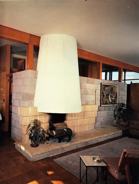 Pedro E. Guerrero, 'Fider House, Living Room Fireplace, CT (Joseph P. Salerno, Architect)', 1949, Edward Cella Art and Architecture