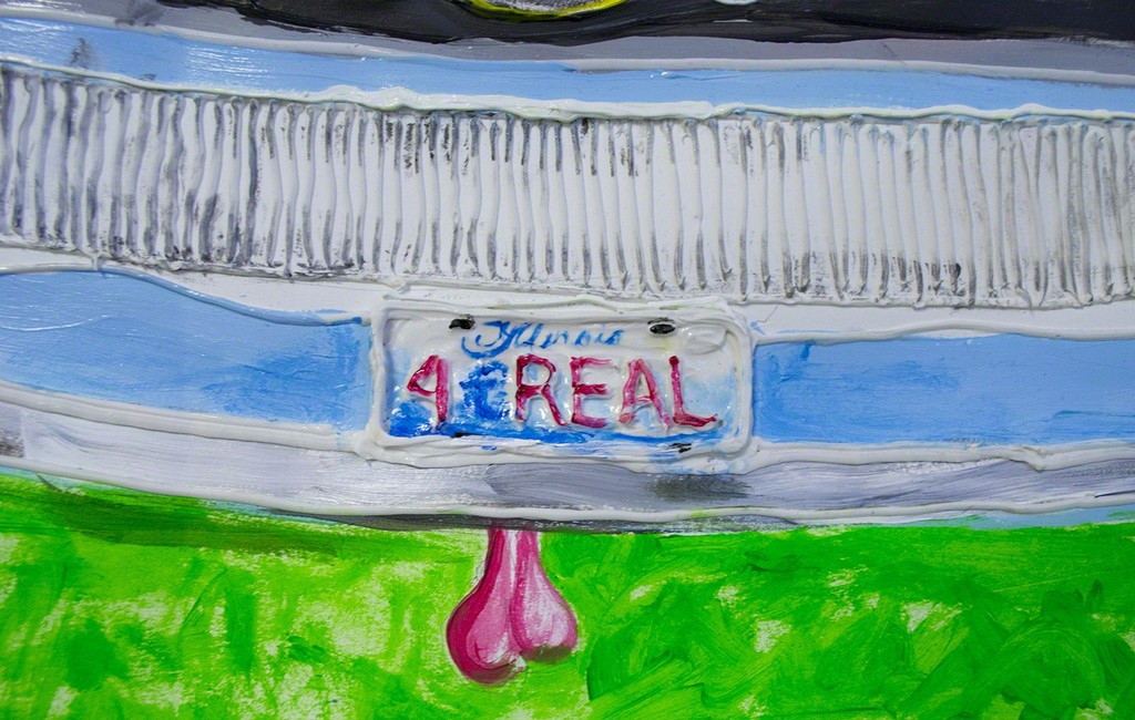 Yvette Mayorga, 4 Real (Crossing inside a car) (detail 1)